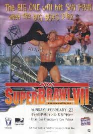 World Championship Wrestling Hintergrund with Anime entitled WCW Superbrawl 1997