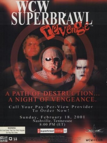 World Championship Wrestling Hintergrund probably with Anime called WCW Superbrawl Revenge 2001