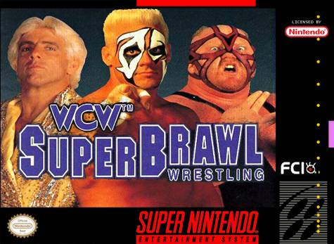 World Championship Wrestling Hintergrund containing Anime called WCW Superbrawl Wrestling