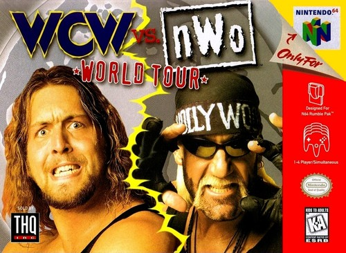 World Championship Wrestling Hintergrund with Anime called WCW World Tour