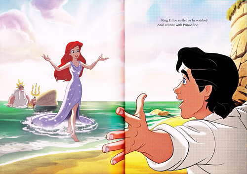 Герои Уолта Диснея Обои probably with Аниме titled Walt Дисней Book Scans - The Little Mermaid: The Story of Ariel (English Version)