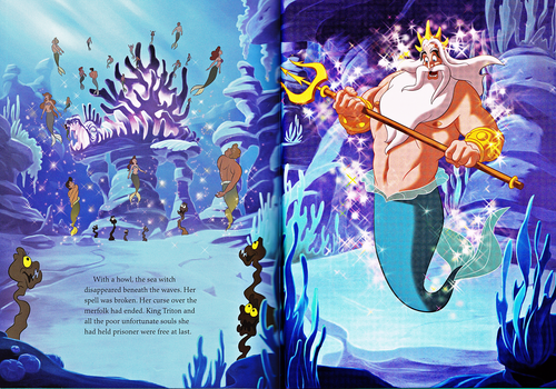 Walt Disney Characters wallpaper titled Walt Disney Book Scans - The Little Mermaid: The Story of Ariel (English Version)