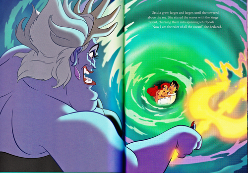 personnages de Walt Disney fond d'écran with a red cabbage titled Walt Disney Book Scans - The Little Mermaid: The Story of Ariel (English Version)