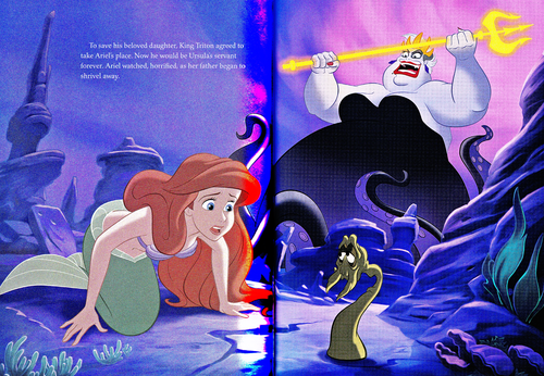 Walt Disney Characters achtergrond possibly with anime entitled Walt Disney Book Scans - The Little Mermaid: The Story of Ariel (English Version)