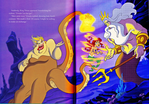 Walt Disney Characters karatasi la kupamba ukuta containing anime called Walt Disney Book Scans - The Little Mermaid: The Story of Ariel (English Version)