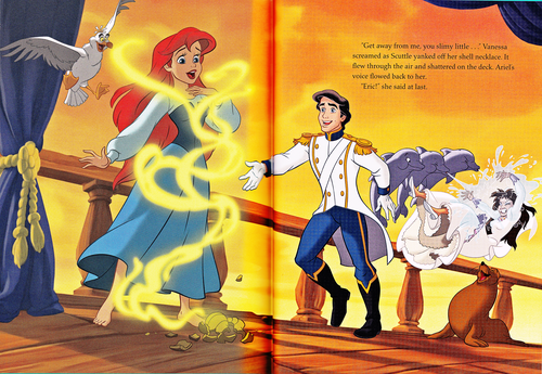 Walt Disney Characters wallpaper possibly with anime called Walt Disney Book Scans - The Little Mermaid: The Story of Ariel (English Version)