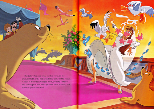 personnages de Walt Disney fond d'écran possibly with animé entitled Walt Disney Book Scans - The Little Mermaid: The Story of Ariel (English Version)