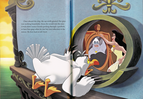 Walt Disney Characters wallpaper possibly with anime entitled Walt Disney Book Scans - The Little Mermaid: The Story of Ariel (English Version)