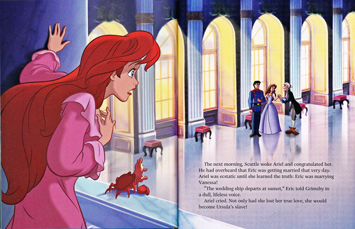 Karakter Walt Disney kertas dinding probably with Anime entitled Walt Disney Book Scans - The Little Mermaid: The Story of Ariel (English Version)