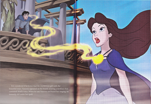 personaggi Disney wallpaper probably containing Anime titled Walt Disney Book Scans - The Little Mermaid: The Story of Ariel (English Version)