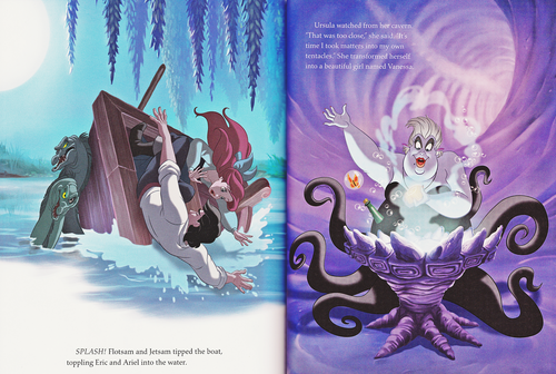 personnages de Walt Disney fond d'écran entitled Walt Disney Book Scans - The Little Mermaid: The Story of Ariel (English Version)
