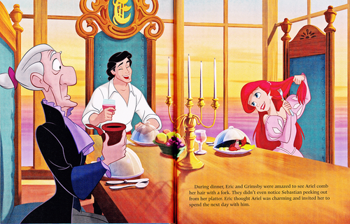 personnages de Walt Disney fond d'écran titled Walt Disney Book Scans - The Little Mermaid: The Story of Ariel (English Version)