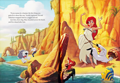 Walt Disney Characters wallpaper possibly containing anime entitled Walt Disney Book Scans - The Little Mermaid: The Story of Ariel (English Version)