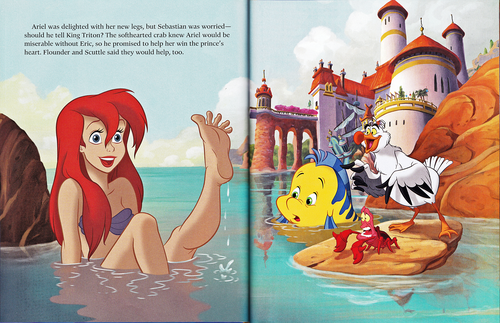 personaggi Disney wallpaper possibly containing Anime entitled Walt Disney Book Scans - The Little Mermaid: The Story of Ariel (English Version)