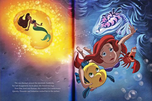 personaggi Disney wallpaper with Anime entitled Walt Disney Book Scans - The Little Mermaid: The Story of Ariel (English Version)
