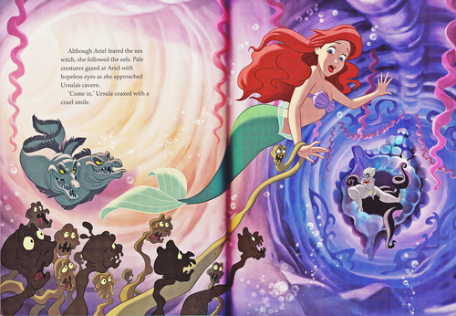 personnages de Walt Disney fond d'écran probably containing animé titled Walt Disney Book Scans - The Little Mermaid: The Story of Ariel (English Version)