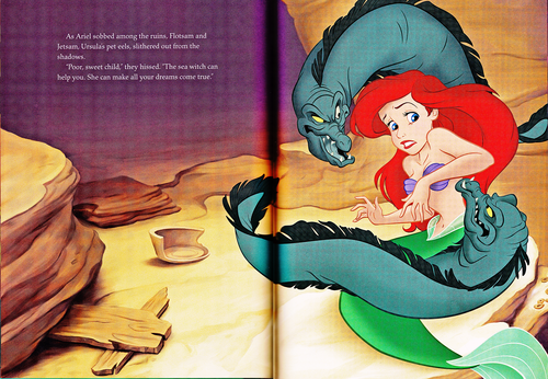 Walt Disney Characters wallpaper containing anime titled Walt Disney Book Scans - The Little Mermaid: The Story of Ariel (English Version)