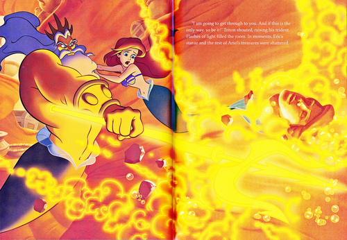 Walt Disney-Figuren Hintergrund probably containing Anime entitled Walt Disney Book Scans - The Little Mermaid: The Story of Ariel (English Version)
