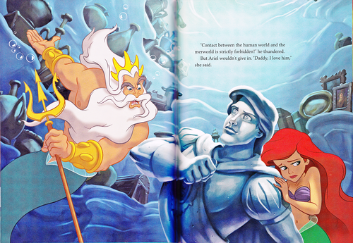 Герои Уолта Диснея Обои possibly with Аниме titled Walt Дисней Book Scans - The Little Mermaid: The Story of Ariel (English Version)