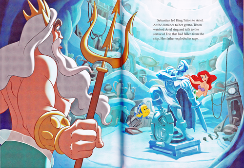 karakter walt disney wallpaper titled Walt disney Book Scans - The Little Mermaid: The Story of Ariel (English Version)