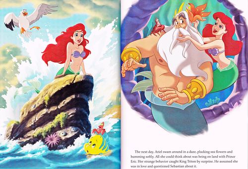 Walt Disney Characters karatasi la kupamba ukuta entitled Walt Disney Book Scans - The Little Mermaid: The Story of Ariel (English Version)