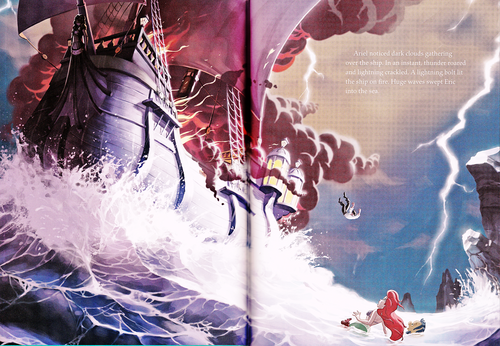 personnages de Walt Disney fond d'écran called Walt Disney Book Scans - The Little Mermaid: The Story of Ariel (English Version)