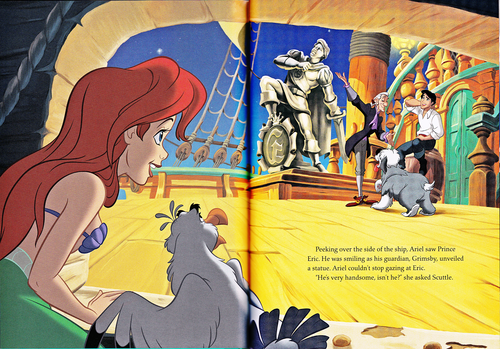Walt Disney Characters karatasi la kupamba ukuta containing anime entitled Walt Disney Book Scans - The Little Mermaid: The Story of Ariel (English Version)