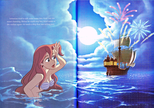 personaggi Disney wallpaper entitled Walt Disney Book Scans - The Little Mermaid: The Story of Ariel (English Version)