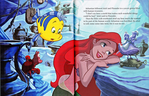 Walt Disney Characters karatasi la kupamba ukuta with anime entitled Walt Disney Book Scans - The Little Mermaid: The Story of Ariel (English Version)