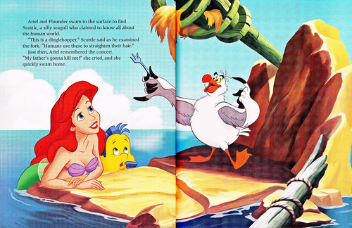 personajes de walt disney fondo de pantalla entitled Walt disney Book Scans - The Little Mermaid: The Story of Ariel (English Version)