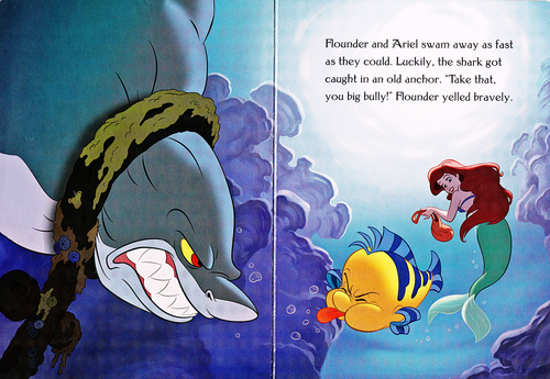 Walt Disney Characters karatasi la kupamba ukuta with anime titled Walt Disney Book Scans - The Little Mermaid: The Story of Ariel (English Version)