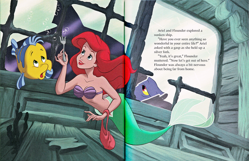 Walt Disney Characters achtergrond containing anime called Walt Disney Book Scans - The Little Mermaid: The Story of Ariel (English Version)