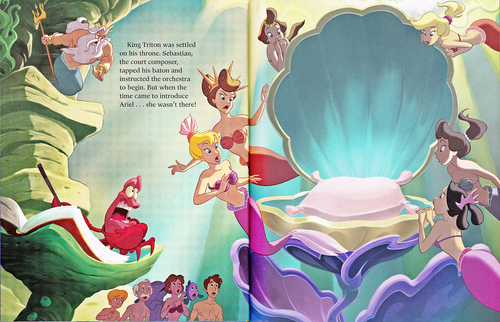 Walt Disney Characters karatasi la kupamba ukuta titled Walt Disney Book Scans - The Little Mermaid: The Story of Ariel (English Version)