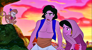Walt Disney Screencaps - Abu, Prince Aladdin & Princess جیسمین, یاسمین