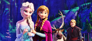 Walt disney Screencaps - queen Elsa, Princess Anna, Sven & Kristoff Bjorgman