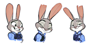 Walt disney Sketches - Officer Judy Hopps