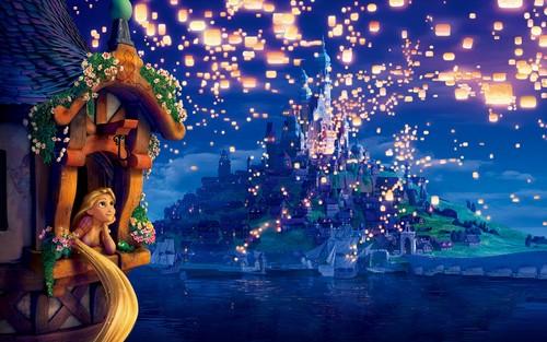 personnages de Walt Disney fond d'écran titled Walt Disney fonds d'écran - Princess Rapunzel & Pascal