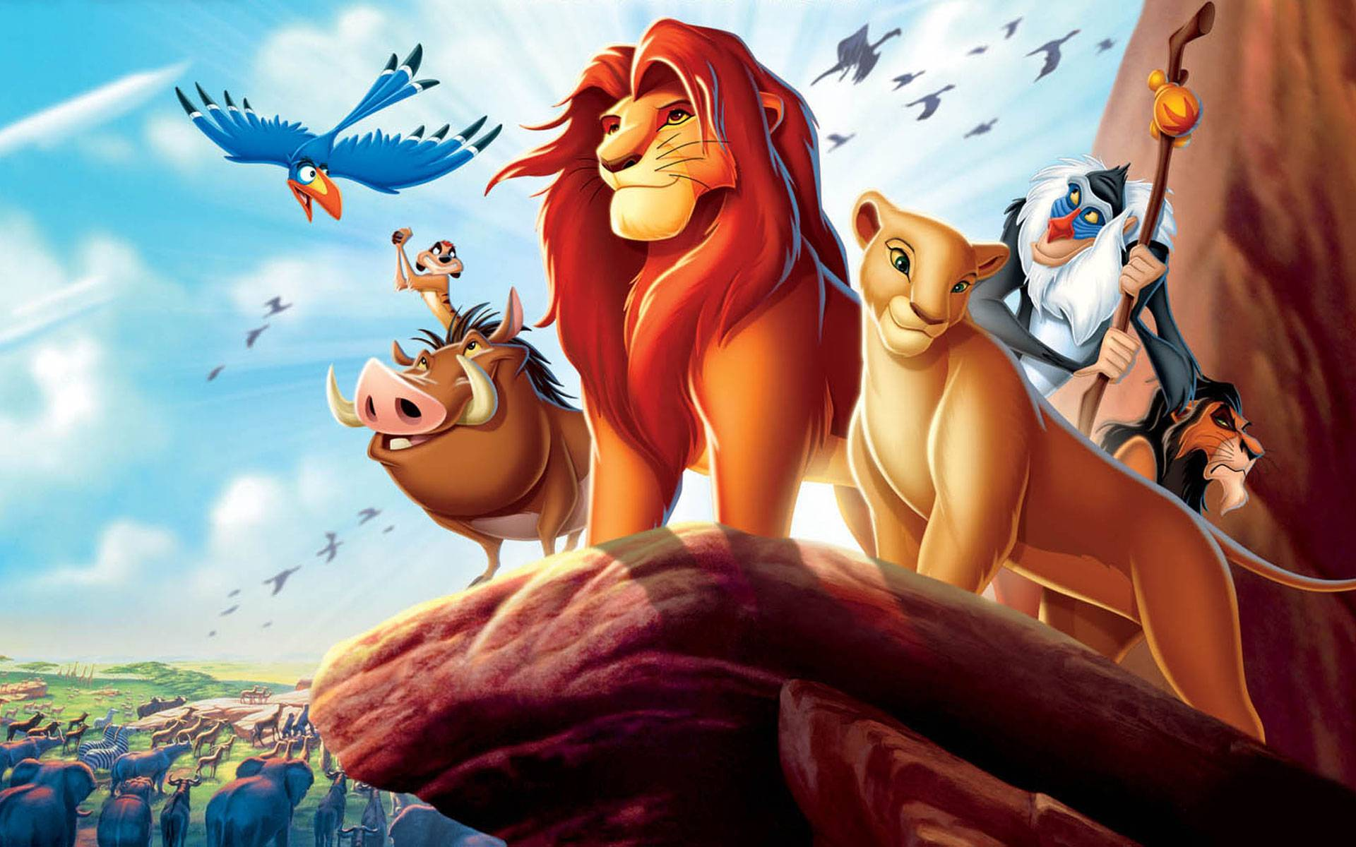 Walt Disney achtergronden - The Lion King