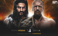 wwe - Wrestlemania 32 - Triple H vs Roman Reigns wallpaper