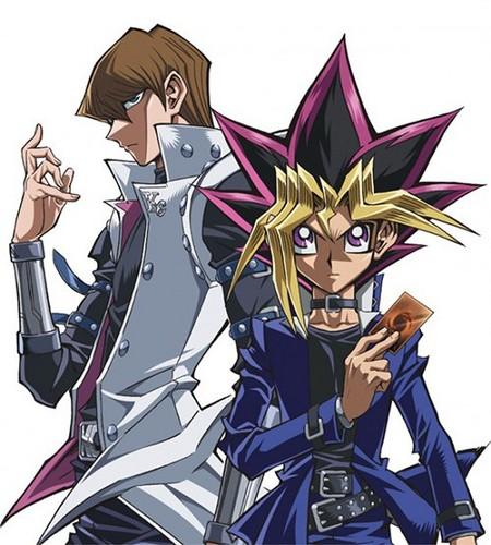 Yu-Gi-Oh 壁纸 with 日本动漫 titled Yu-Gi-Oh! The Dark Side of Dimensions - Kaiba Seto and Mutou Yuugi