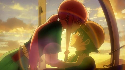 mirai nikki Обои entitled Yukiteru and Yuno