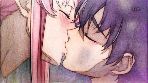 mirai nikki wallpaper containing anime entitled Yukiteru and Yuno