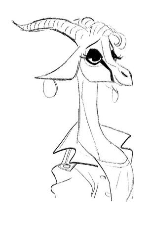 Zootopia - Early rusa, gazelle Concept Art