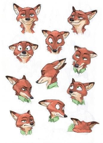 디즈니 바탕화면 called Zootopia Nick Wilde's facial expressions