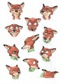 Zootopia Nick Wilde's facial expressions