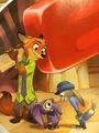 Zootropolis' Nick, Elefinnick and Judy