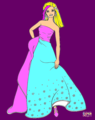 barbie50 coloring page - barbie fan art