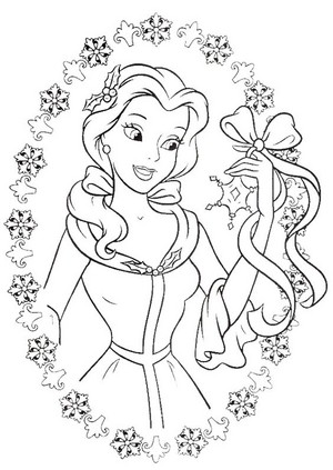 Walt Disney Coloring Pages - Princess Belle