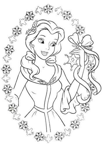 Walt Disney Characters achtergrond probably containing a brussels kant, lace entitled Walt Disney Coloring Pages - Princess Belle
