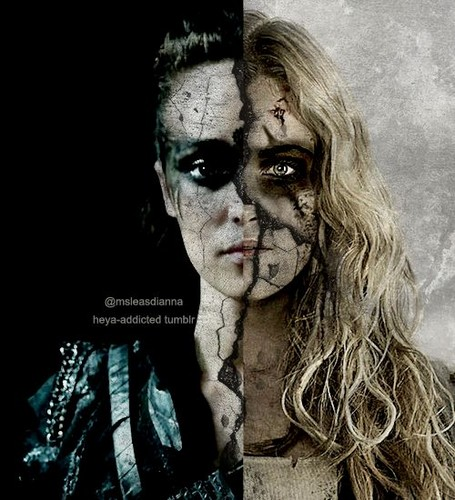 Clarke and Lexa fond d'écran possibly with a portrait entitled clexa.